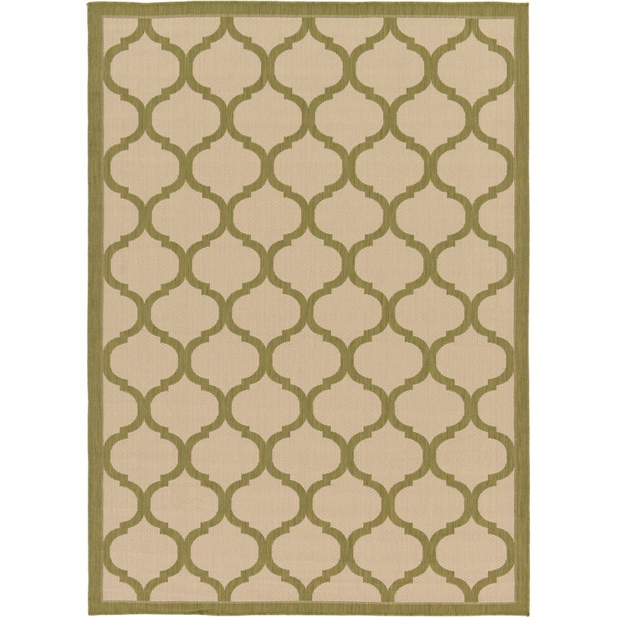 Unique Loom Moroccan Outdoor Olive Indoor/Outdoor Area Rug