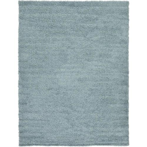 Unique Loom Solid Shag 7 X 10 Light Slate Blue Indoor Solid Area Rug In The Rugs Department At Lowes Com