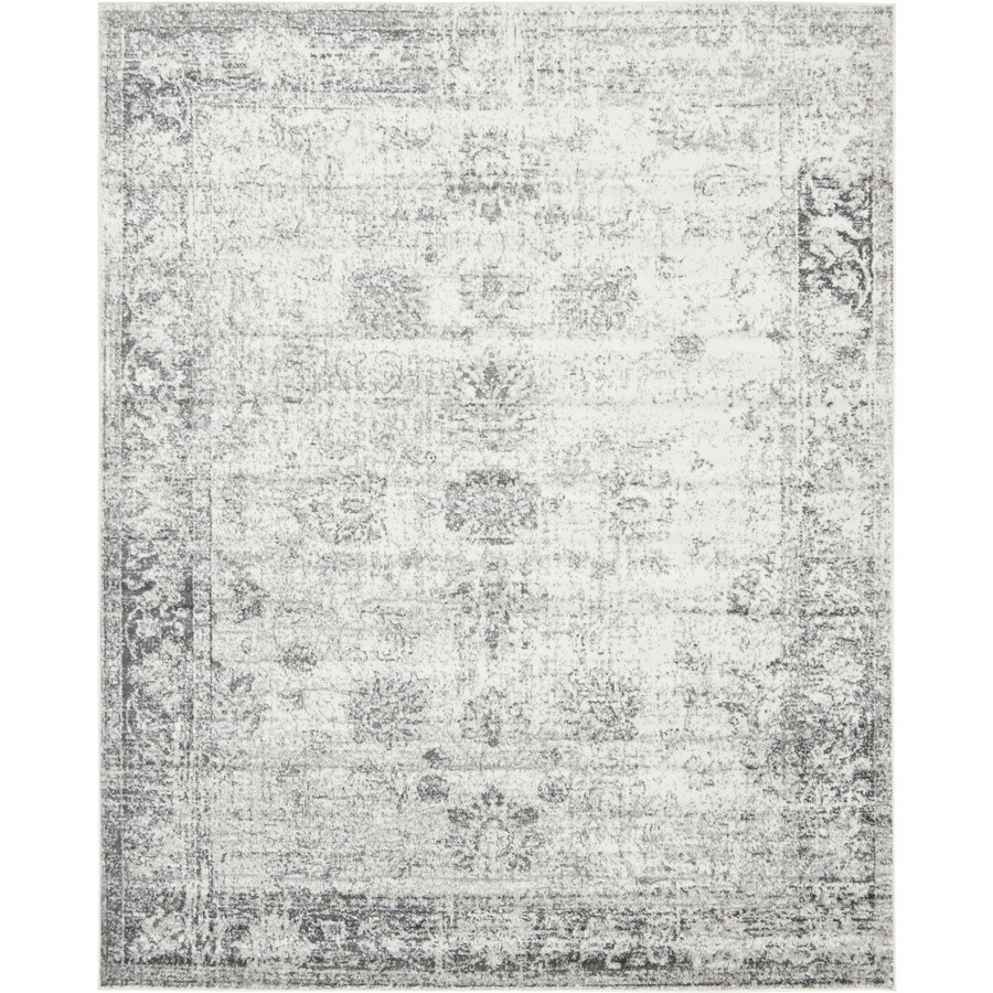 Unique Loom Casino Sofia Gray Indoor Distressed Area Rug