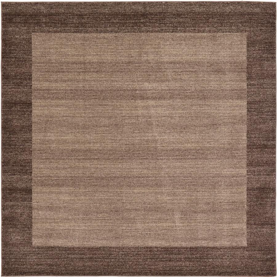 Unique Loom Abigail Del Mar Light Brown Square Indoor Distressed