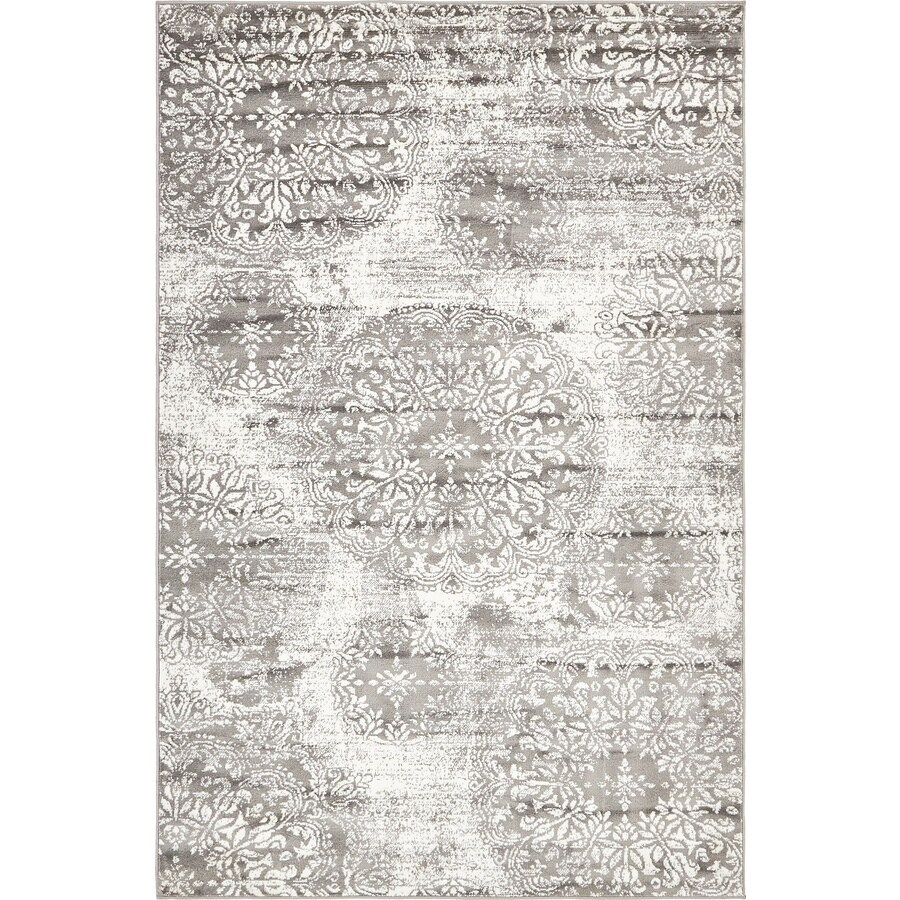 Unique Loom Grand Sofia Gray Indoor Distressed Area Rug