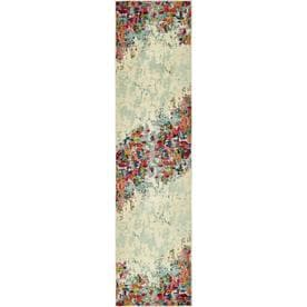Unique Loom Joyous Chromatic Modern Abstract Area Rug or Runner