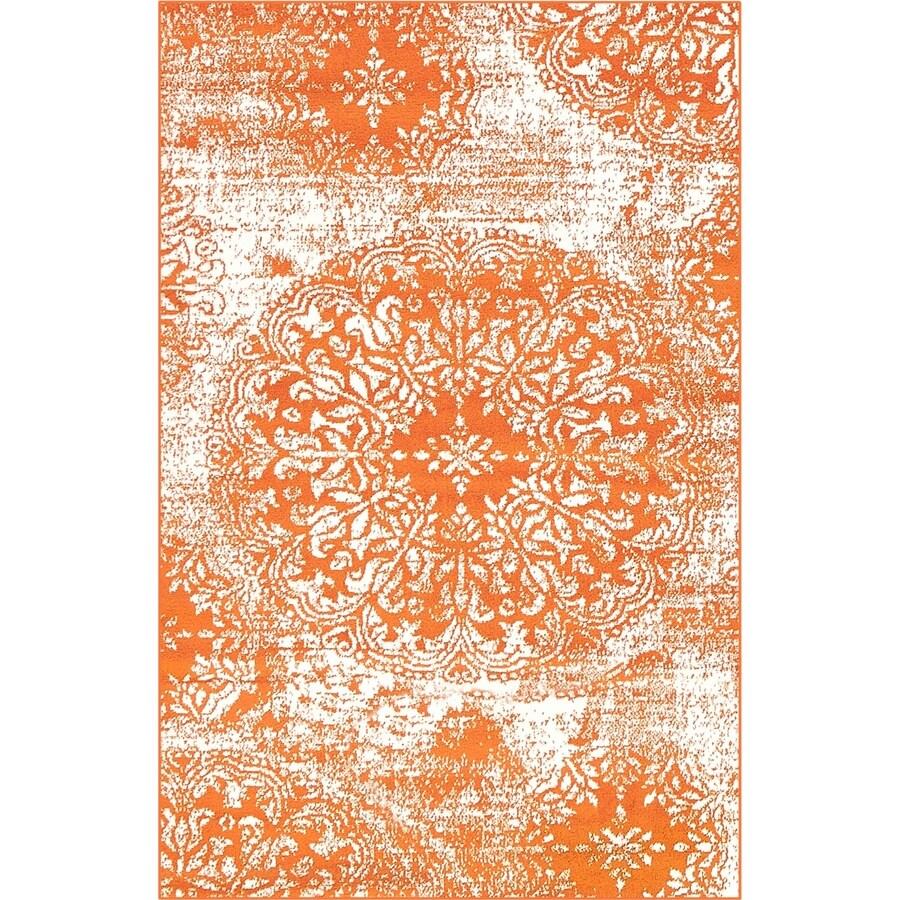25dff81eddf Unique Loom Grand Sofia Orange White Indoor Vintage Area Rug (Common  3 x  5  Actual  3.25-ft W x 5.25-ft L)