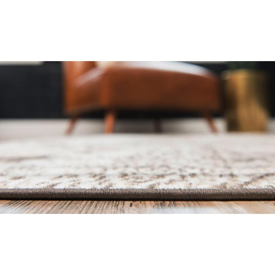Unique Loom Albert Sofia Brown Ivory Rectangular Indoor