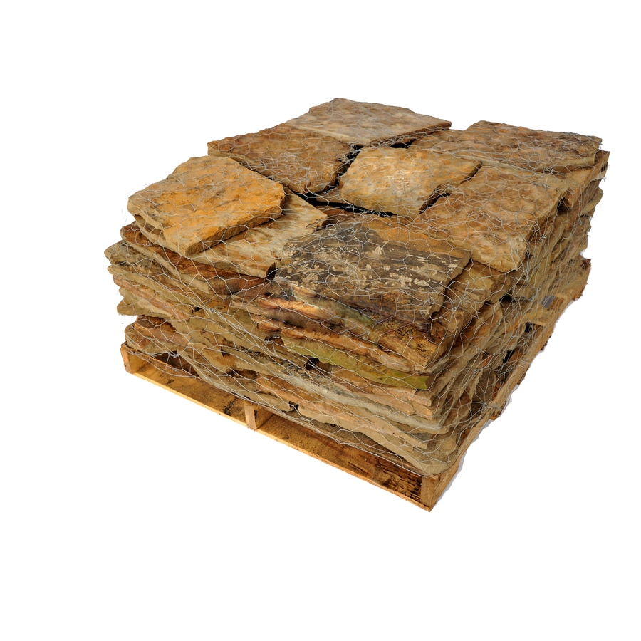 Tan Natural Flagstone Patio Stone (Common: 48-in x 48-in; Actual: 48-in H x 48-in L)