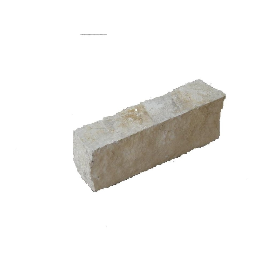 Select Austin Singles White Patio Stone (Common: 6 In X 12 In