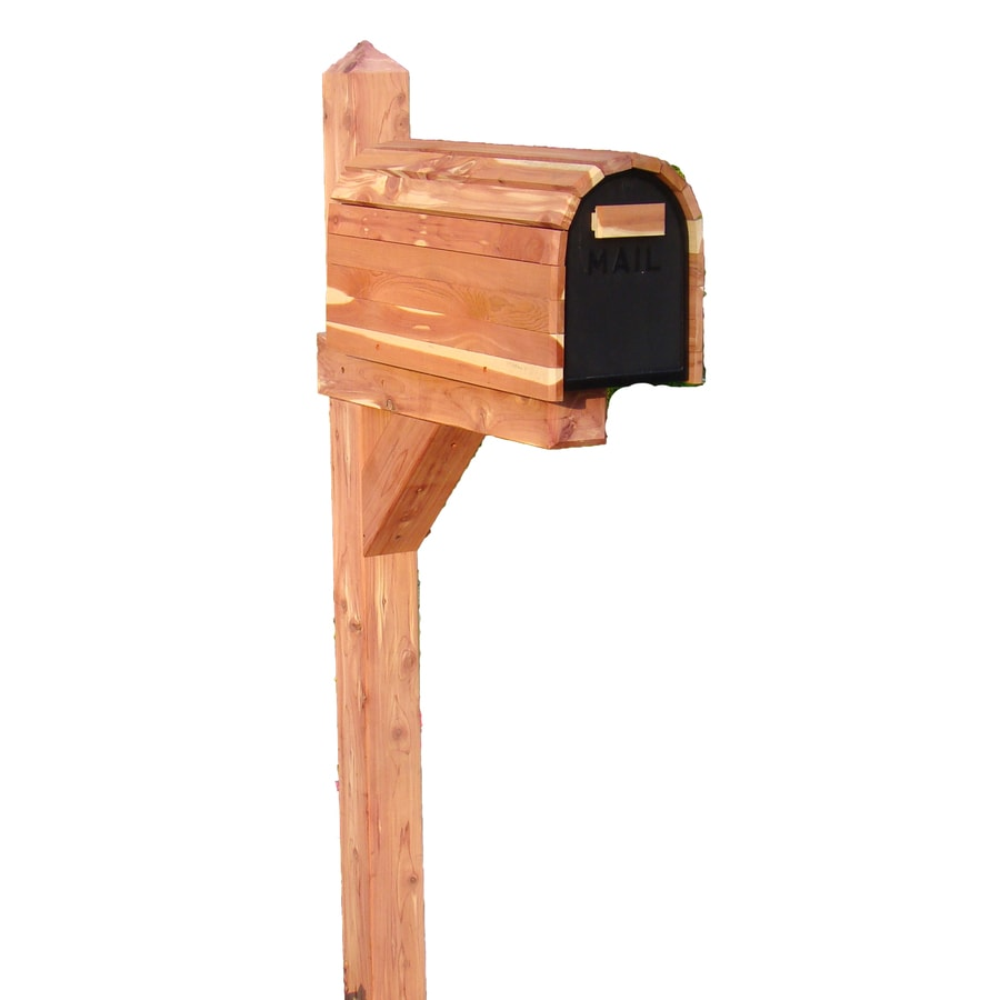 Shop Cedar Products Natural Wood Mailbox Post at Lowes.com