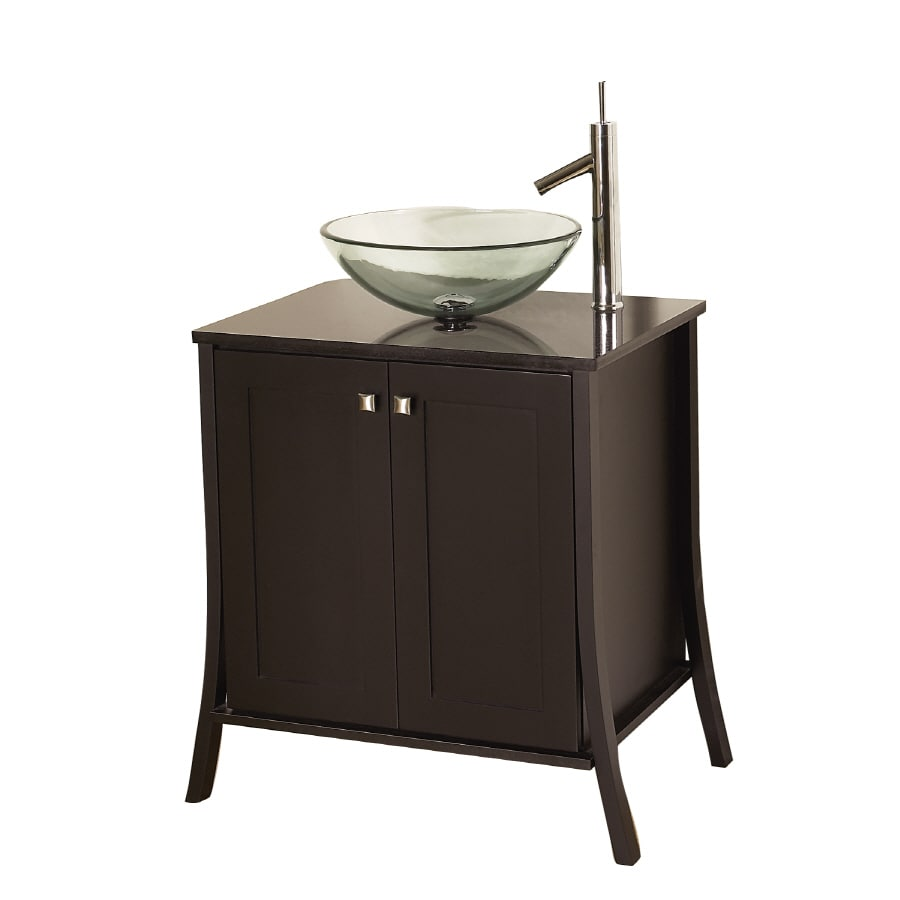 Allen Roth Stayton Espresso Single Vessel Sink Bathroom Vanity