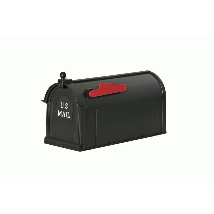 Postal Pro 9-in x 11-in Plastic Black Post Mount Mailbox