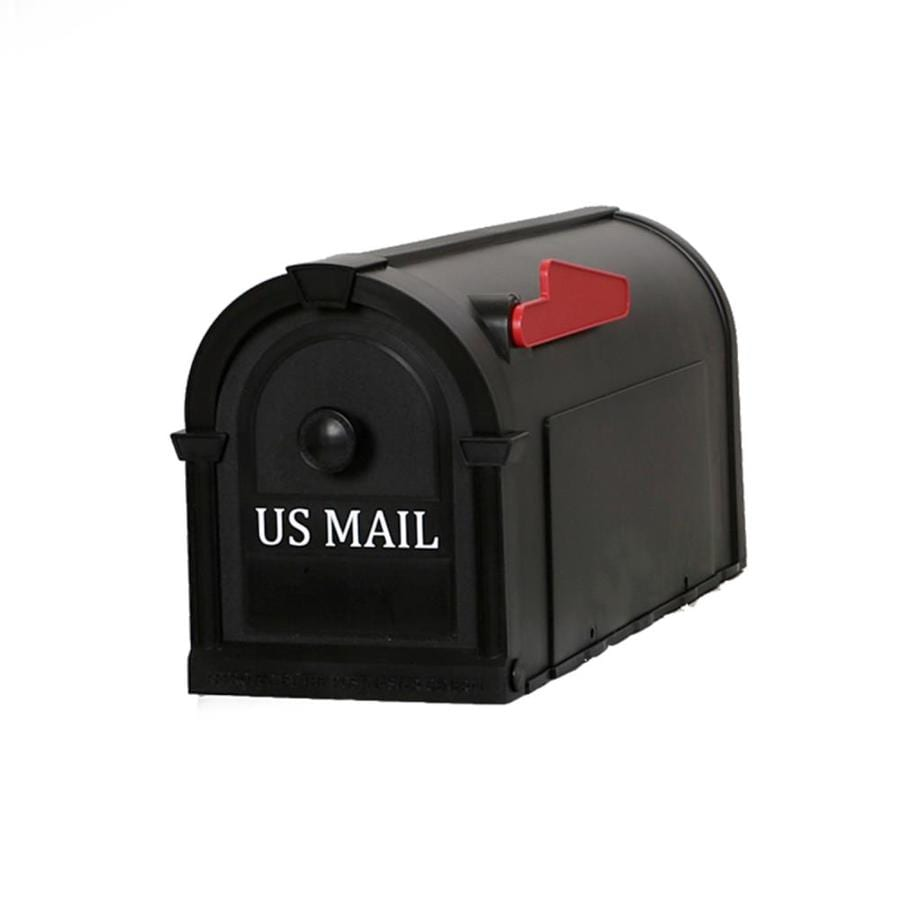 Postal Pro Hampton 8-in x 10-in Plastic Black Post Mount Mailbox