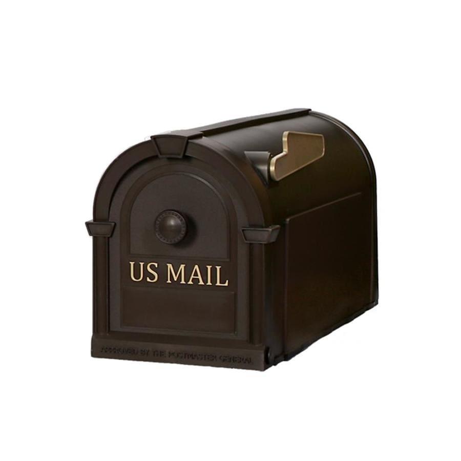 Postal Pro Hampton 8-in x 10-in Plastic Bronze Post Mount Mailbox