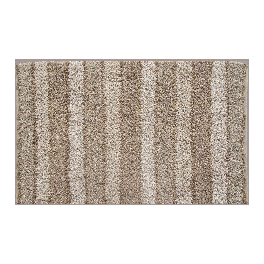 allen + roth Ripley Rectangular Cream Geometric Accent Rug (Common: 2-ft x 4-ft; Actual: 27-in x 42-in)