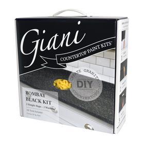 Giani Countertop Transformations Ay Black High Gloss Resurfacing Kit Actual Net Contents