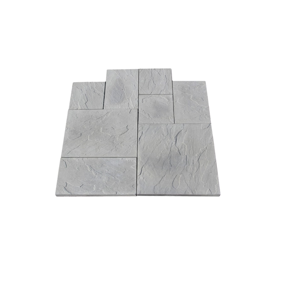 Nantucket Pavers 10-ft x 10-ft Gray Random Rivenstone Paver Patio Block Project Kit