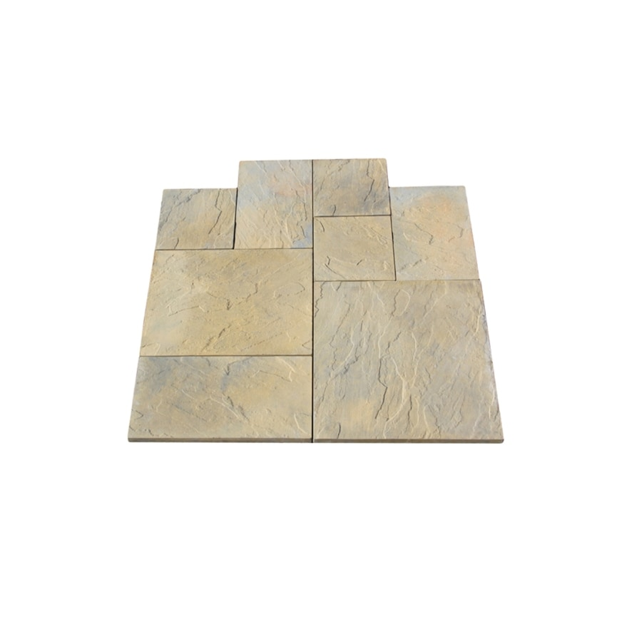 Nantucket Pavers 12-ft x 12-ft Tan Variegated Random Rivenstone Paver Patio Block Project Kit
