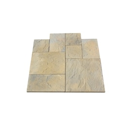 Nantucket Pavers 10 Ft X 10 Ft Tan Random Rivenstone Paver Patio Block  Project