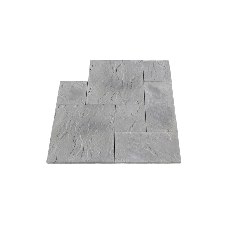 Nantucket Pavers 10-ft x 10-ft Gray Dutch Rivenstone Paver Patio Block Project Kit