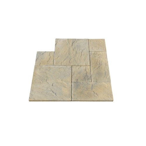 Nantucket Pavers 10 Ft X 10 Ft Tan Variegated Dutch