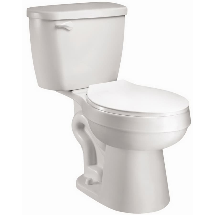AquaSource 1.28-GPF (4.85-LPF) White WaterSense Elongated Chair Height 2-Piece Toilet
