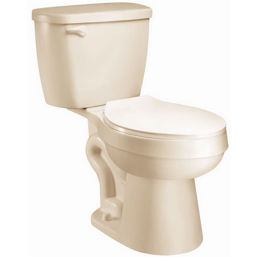 AquaSource Eldridge Biscuit 1.28-GPF (4.85-LPF) 12 Rough-In WaterSense Elongated 2-Piece Chair Height Toilet