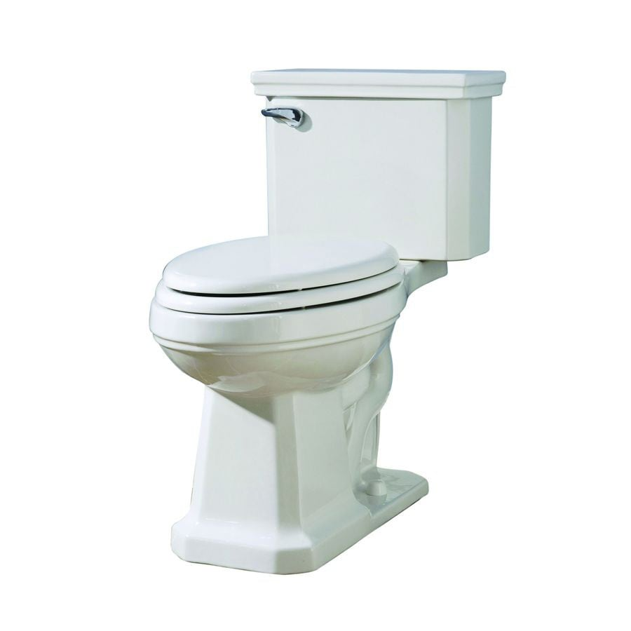 AquaSource Tristan 1.28-GPF (4.85-LPF) White WaterSense Chair Height 2-Piece Toilet