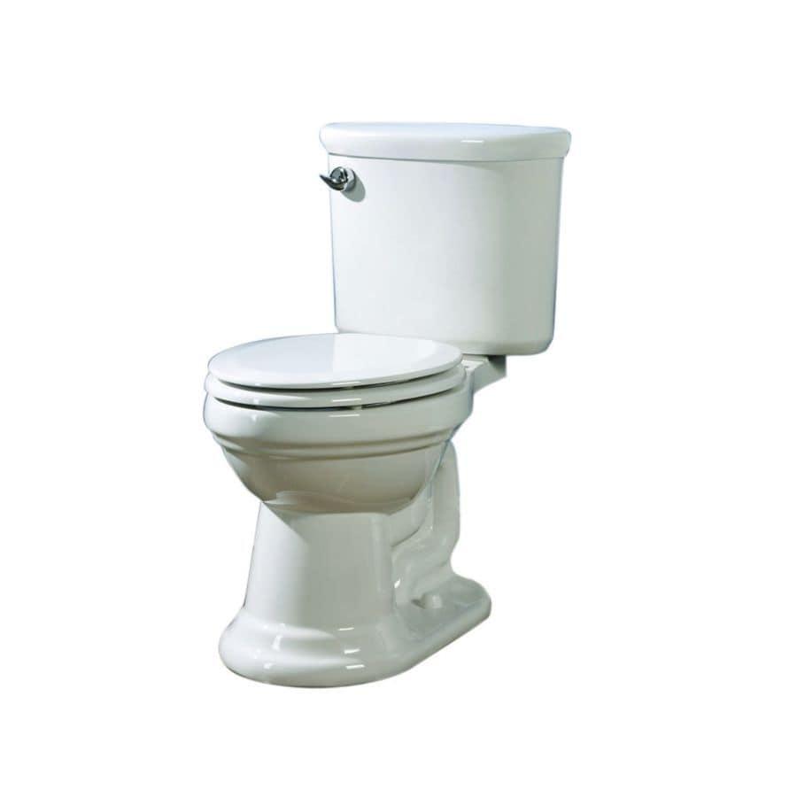 AquaSource Dreyton White 1.28-GPF (4.85-LPF) 12 Rough-In WaterSense Elongated 2-Piece Chair Height Toilet