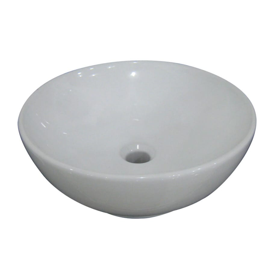 Shop AquaSource White Vessel Bathroom Sink at Lowes.com