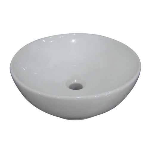 Aquasource White Vessel Bathroom Sink At Lowes Com