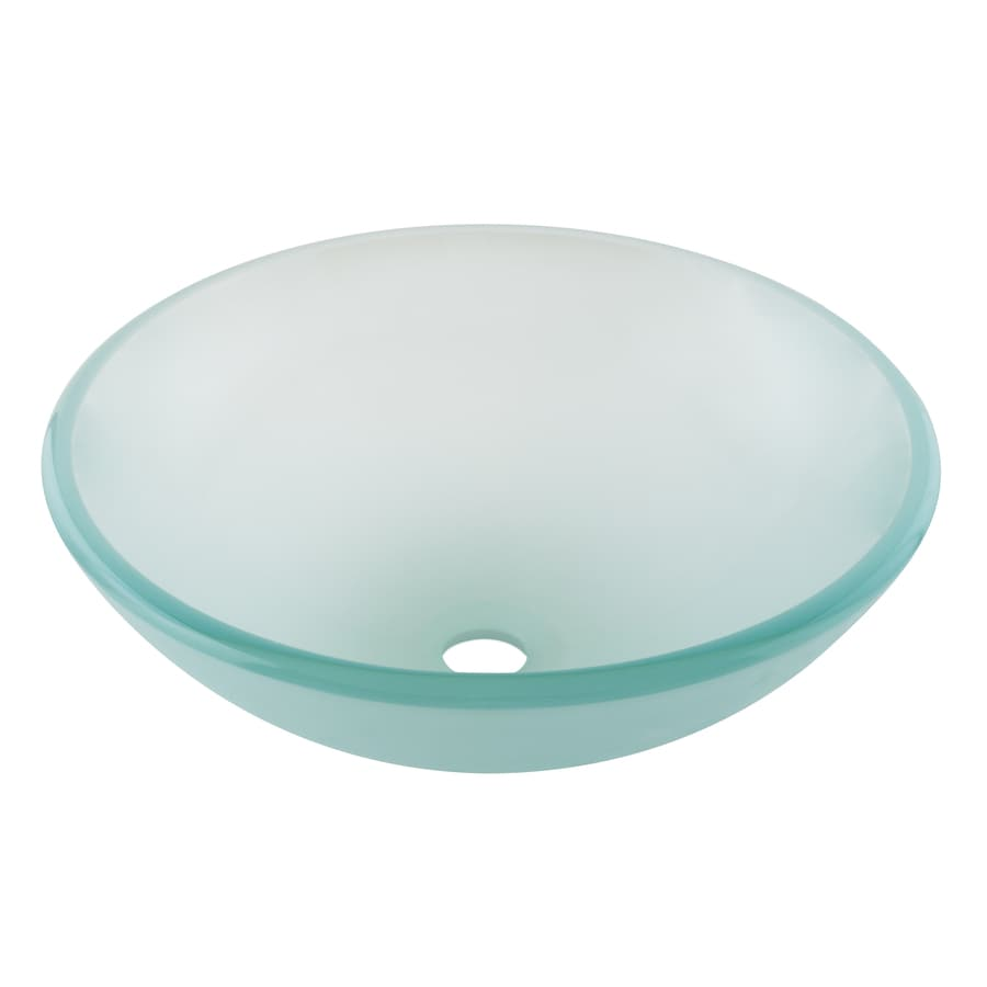 Glass bathroom vessel sinks - Aquasource Green Glass Vessel Bathroom Sink