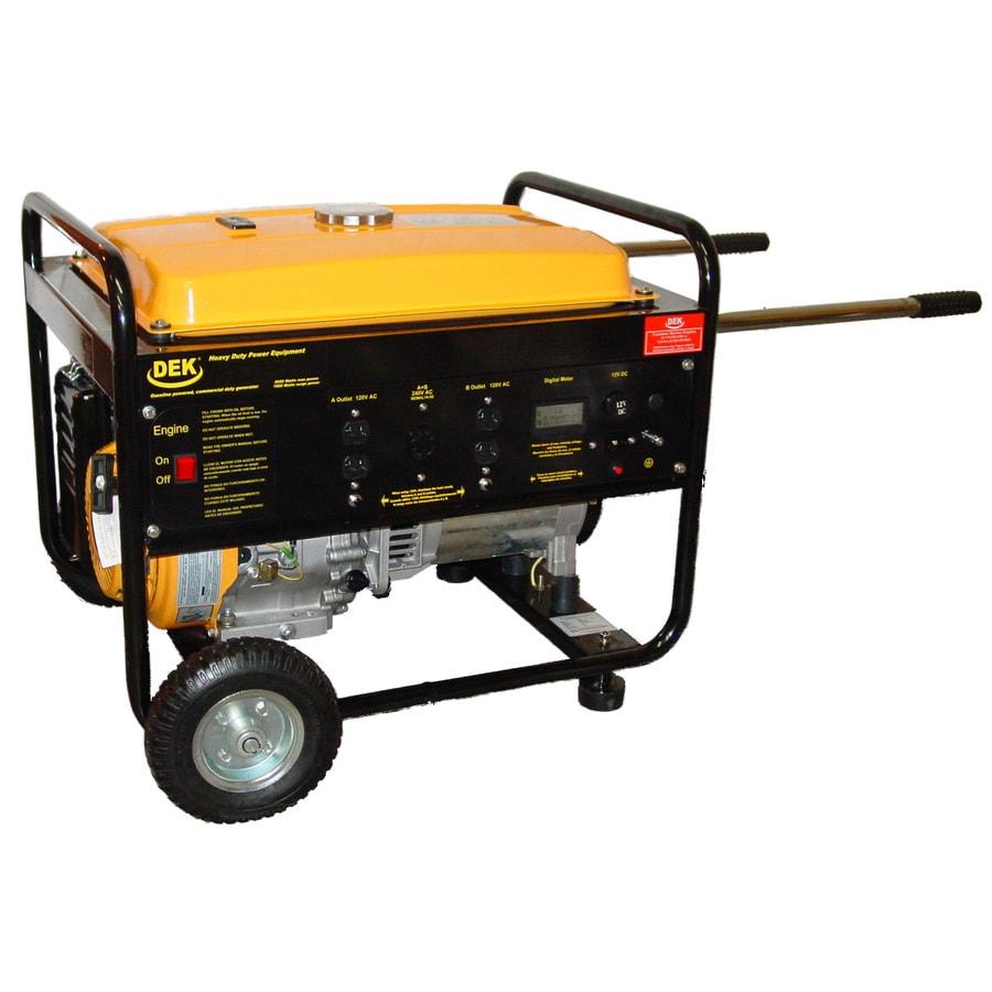 DEK Pro 6,500-Running Watts Portable Generator with Dek Engine