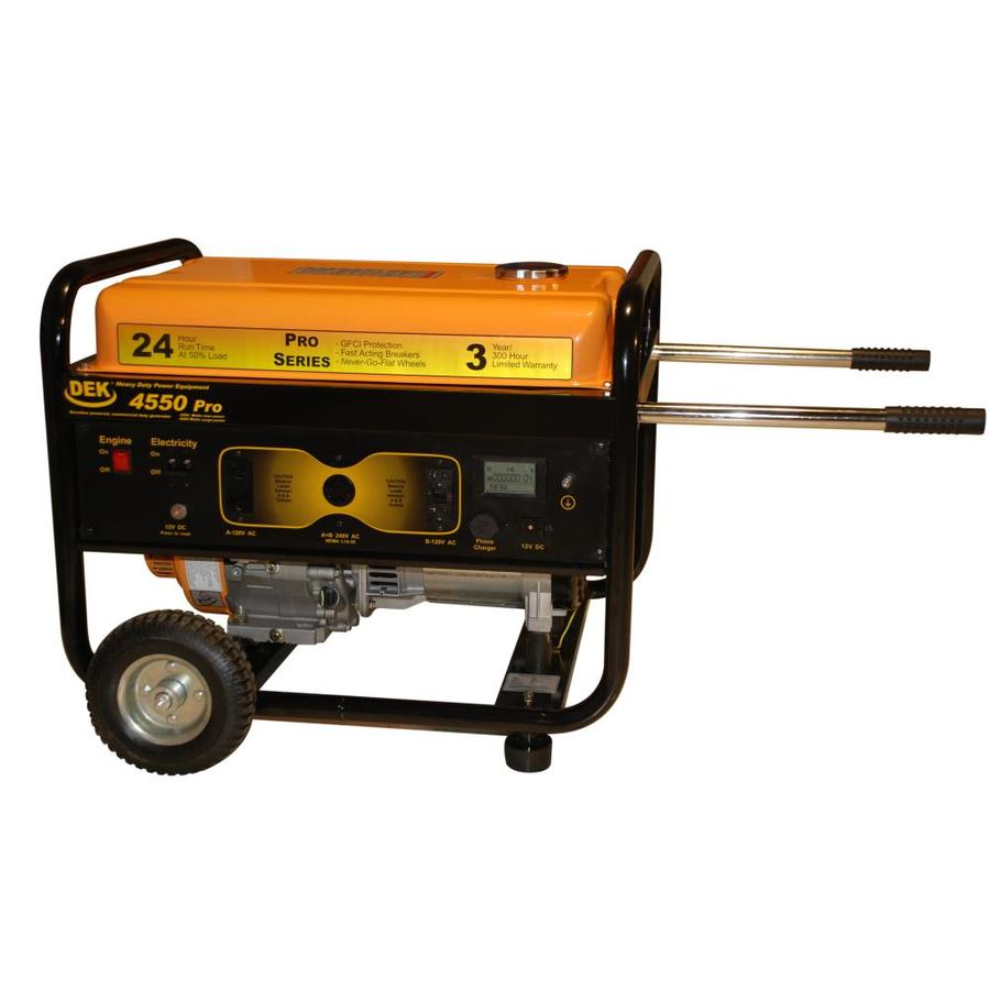 DEK Pro 4,550-Running-Watt Portable Generator with Dek Engine