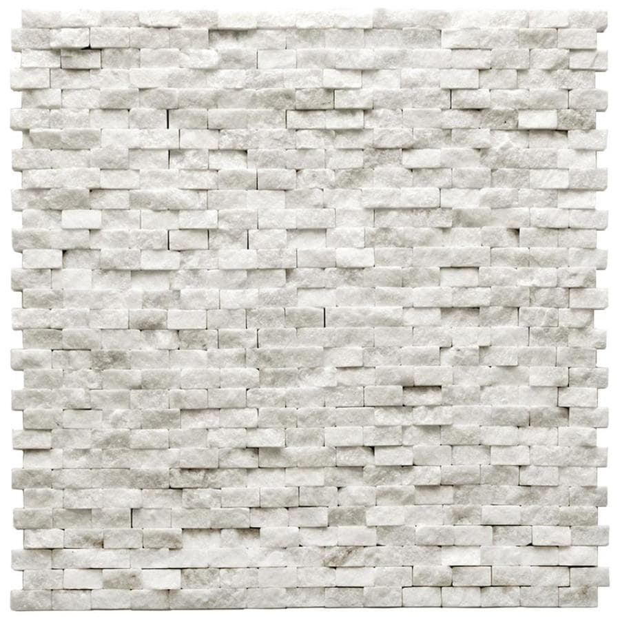 Solistone Modern 10-Pack Beaux Mosaic Marble Wall Tile (Common: 12-in x 12-in; Actual: 12-in x 12-in)