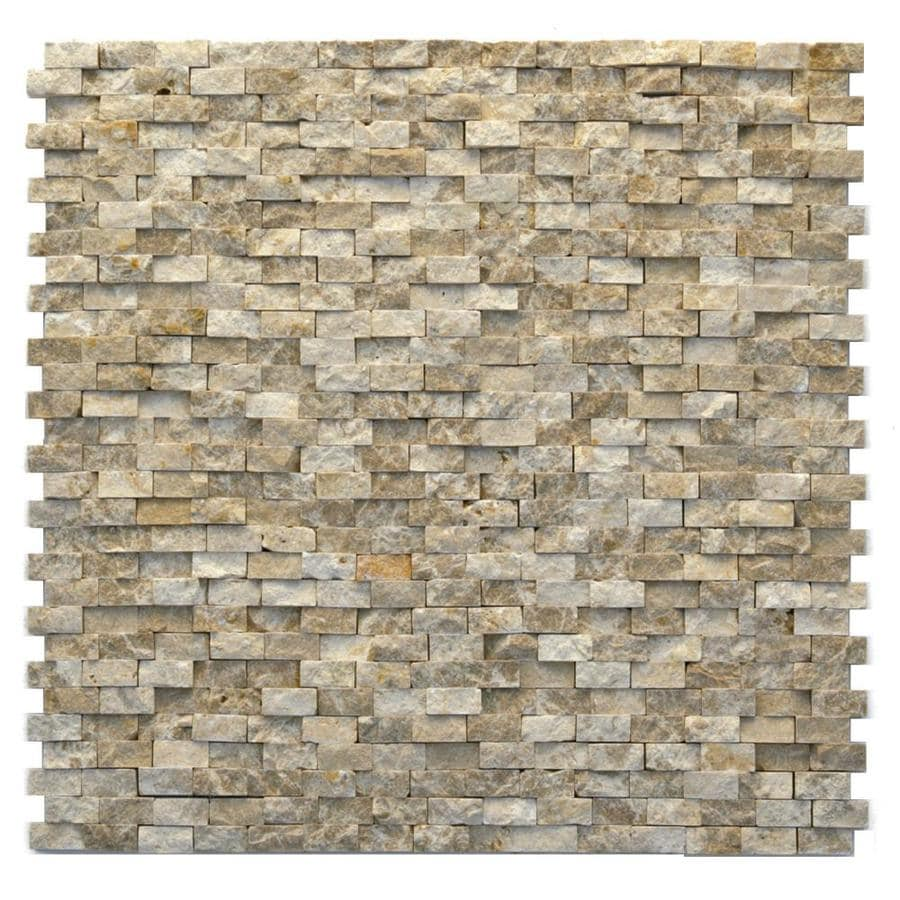 Solistone Modern 10-Pack Dada Mosaic Marble Wall Tile (Common: 12-in x 12-in; Actual: 12-in x 12-in)
