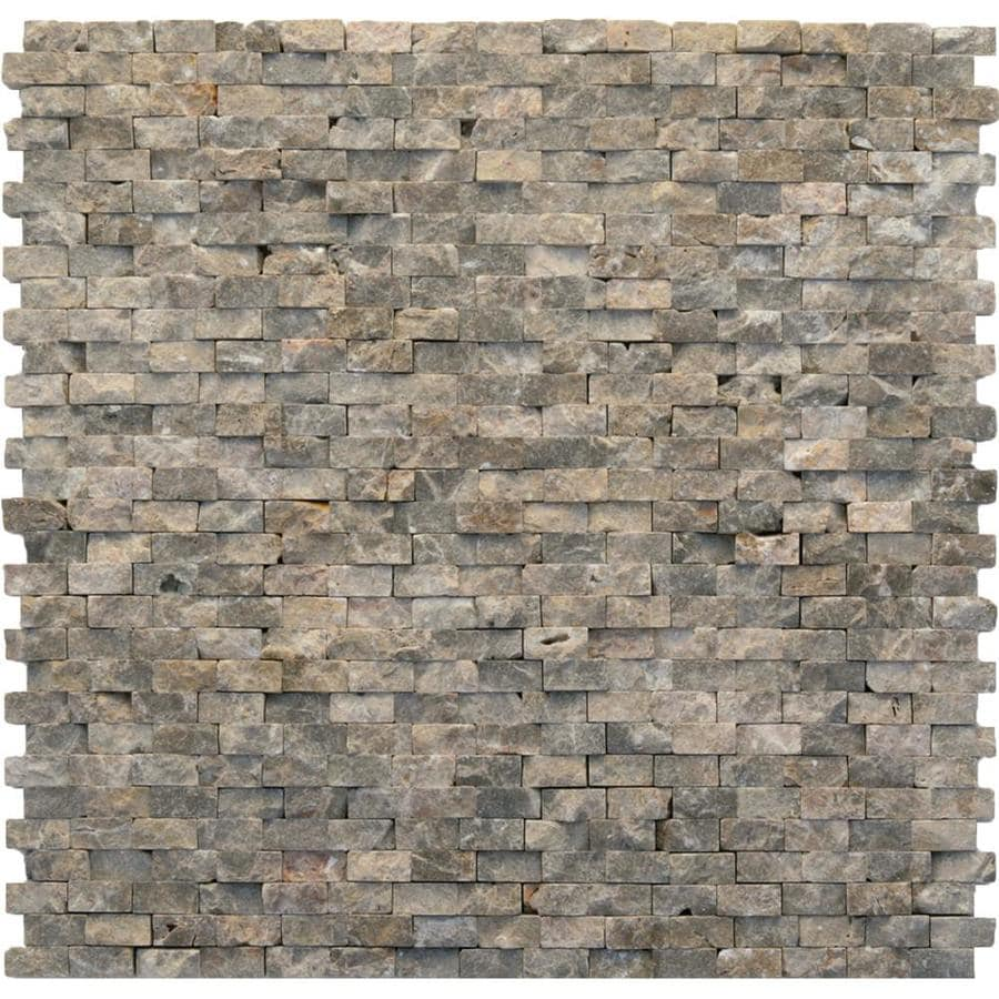 Solistone Modern 10-Pack Opera Brick Mosaic  Marble Wall Tile (Common: 12-in x 12-in; Actual: 12-in x 12-in)