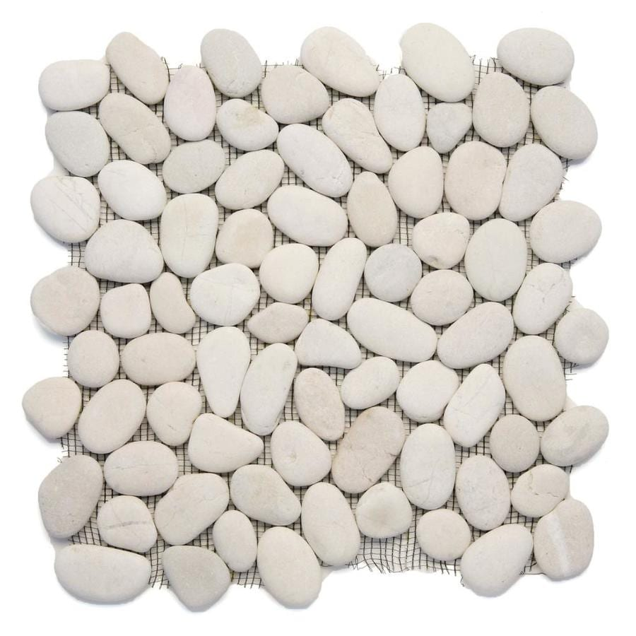 Solistone River Rock Pebbles 10-Pack Rain Pebble Mosaic Floor and Wall Tile (Common: 12-in x 12-in; Actual: 12-in x 12-in)