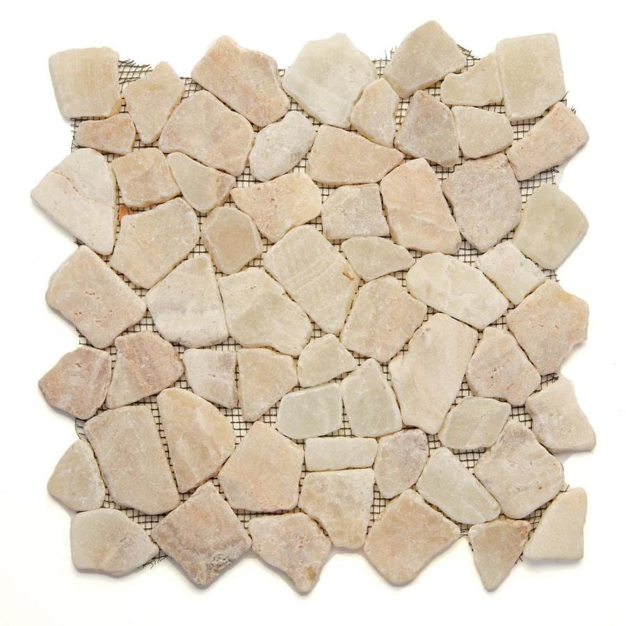 Solistone Indonesian Pebbles 10-Pack Alor Crystal Mosaic Floor Tile (Common: 12-in x 12-in; Actual: 12-in x 12-in)