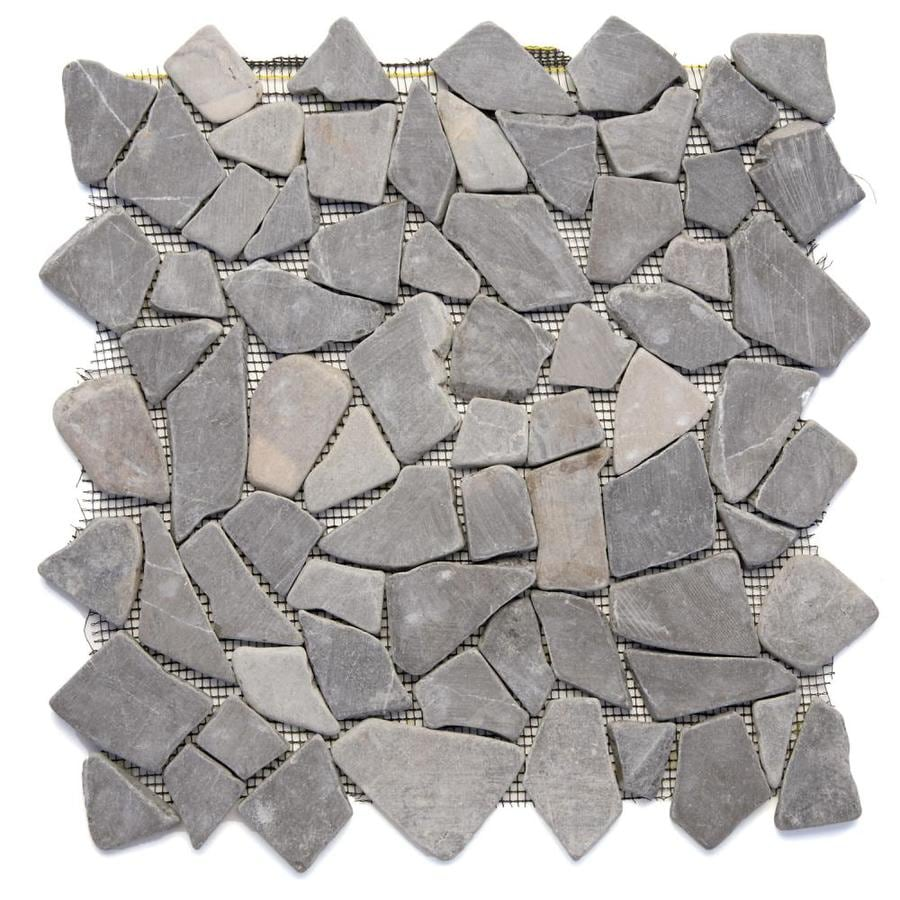 Solistone Indonesian Pebbles 10-Pack Balinese Nights Pebble Mosaic Floor and Wall Tile (Common: 12-in x 12-in; Actual: 12-in x 12-in)