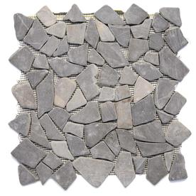 Solistone Indonesian Pebbles 10 Pack Balinese Nights Pebble Mosaic Floor And Wall Tile Common