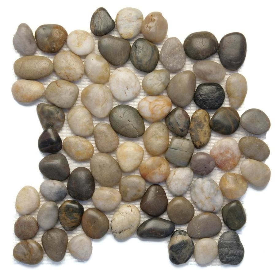 Solistone Anatolia Pebbles Multi Color Natural Mosaic Wall Tile (Common: 12-in x 12-in; Actual: 12-in x 12-in)