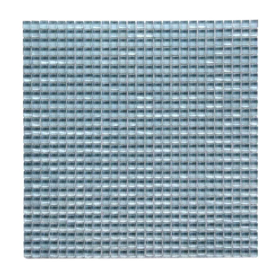 Solistone Atlantis Glass 10-Pack Marina Light Polished Uniform Squares Mosaic Glass Wall Tile (Common: 12-in x 12-in; Actual: 11.75-in x 11.75-in)