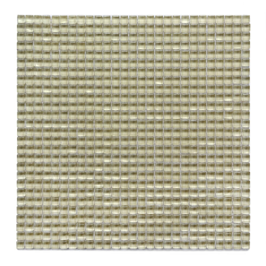 Solistone Atlantis Glass 10-Pack Moray Polished Uniform Squares Mosaic Glass Wall Tile (Common: 12-in x 12-in; Actual: 11.75-in x 11.75-in)