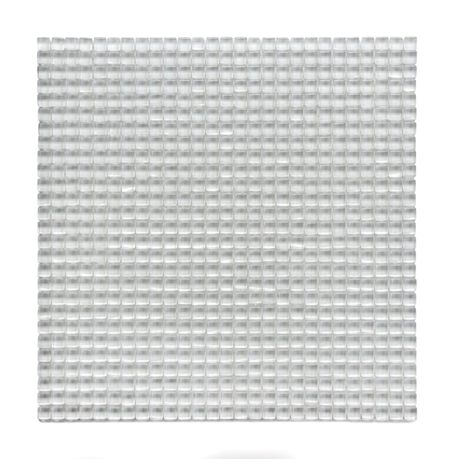 Solistone Atlantis Glass 10-Pack Anemone Polished Uniform Squares Mosaic Glass Wall Tile (Common: 12-in x 12-in; Actual: 11.75-in x 11.75-in)