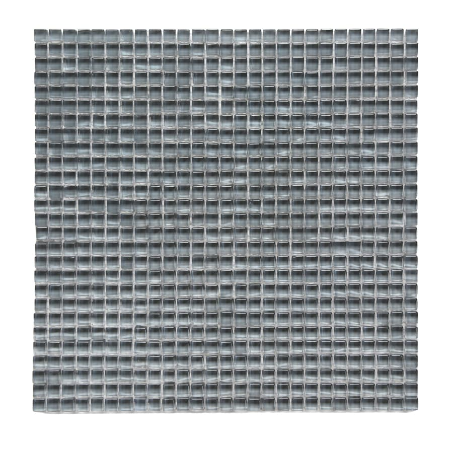 Solistone Atlantis Glass 10-Pack Beluga Dark Polished Uniform Squares Mosaic Glass Wall Tile (Common: 12-in x 12-in; Actual: 11.75-in x 11.75-in)