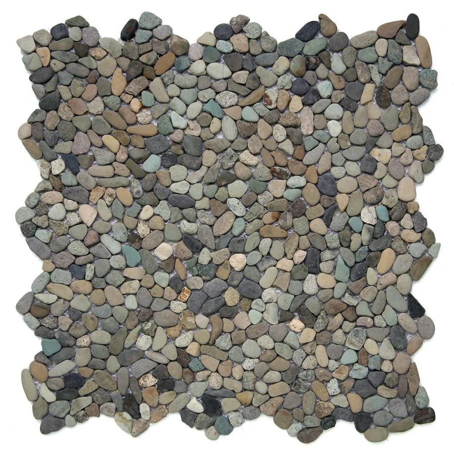 Solistone Micro Pebbles Cayman Blue Pebble Mosaic Floor and Wall