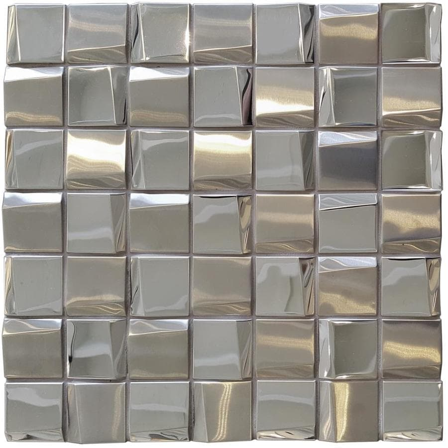 Solistone Facade 10 Pack Mirror 12 In X 12 In Stainless Steel