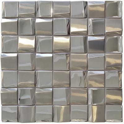 Solistone Facade 10 Pack Mirror 12 In X 12 In Stainless