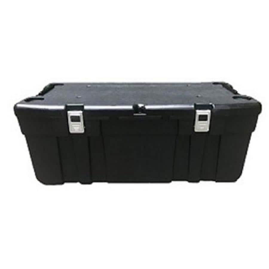 Blue Hawk 25 Gallon Black Plastic Storage Trunk