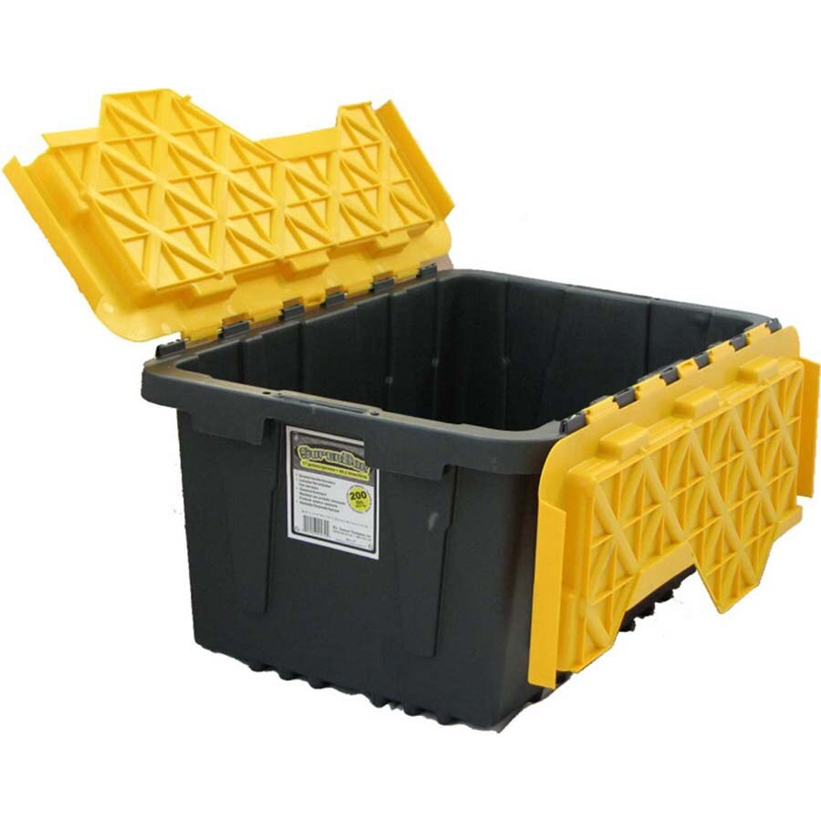 J. Terence Thompson 17-Gallon Yellow Flip-Lid Tote