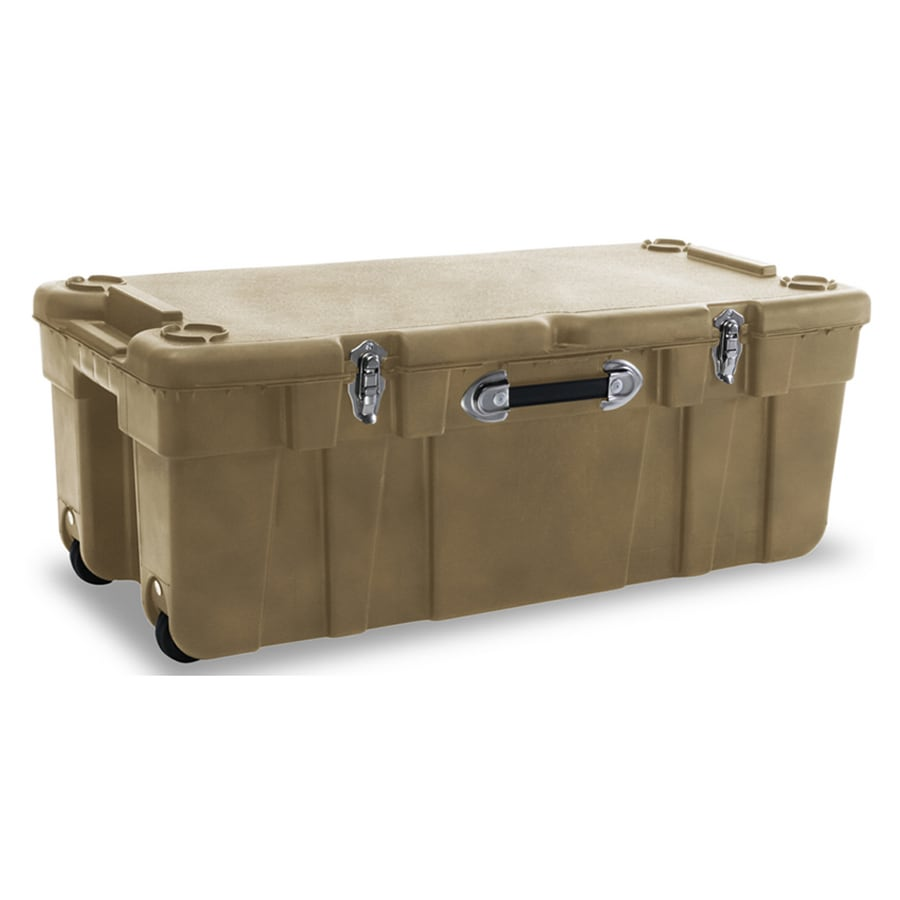 Genial J. Terence Thompson Plastic Large Wheeled Storage Trunk (Sand Dune)