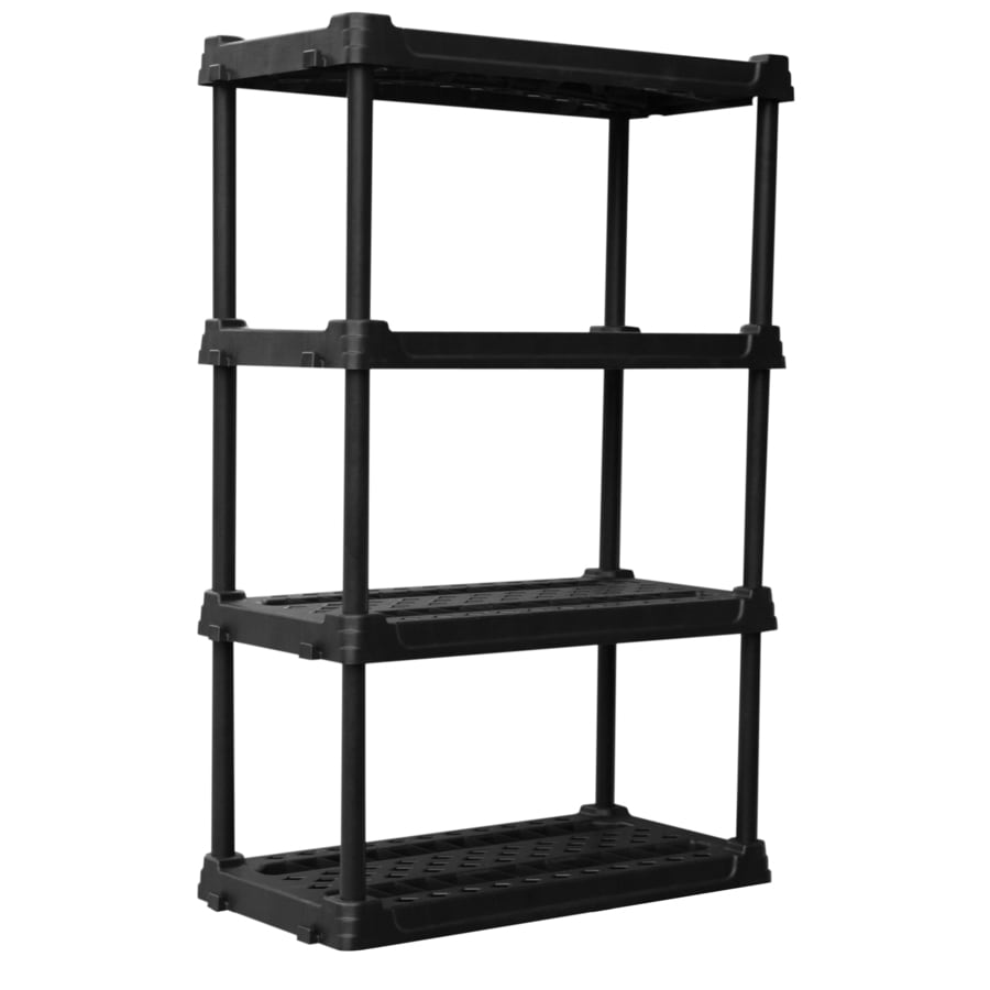 Blue Hawk 565 In H X 36 W 18 D 4 Tier Plastic Freestanding Shelving Unit